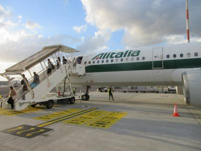 アリタリアビジネスクラス カイロからローマとローマ観光