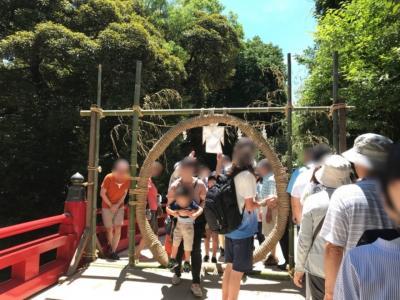 大宮・氷川神社の茅の輪くぐり2018