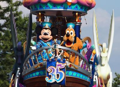 おひとり様ディズニー☆東京ディズニーリゾート35周年ハピエストセレブレーション[後編]パレード観賞