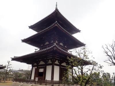 京都奈良へ(13)奈良斑鳩の里へ。法輪寺・法起寺の三重塔と大和路快速