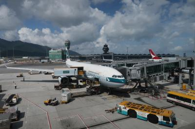 娘2度目の日本1★娘9カ月 ドキドキの出発 キャセイで香港からセントレアへ