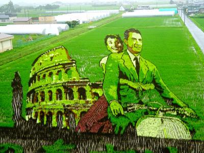 な,なんと見事な! ◇ 田舎館村 田んぼアート2018は『ローマの休日』&『鉄腕アトム,リボンの騎士にブラック・ジャック』