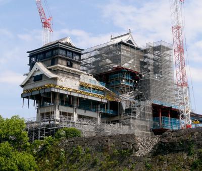 2018.6熊本出張旅行2‐震災後3度目の熊本城 小天守が大きく解体 熊本城ミュージアムわくわく座