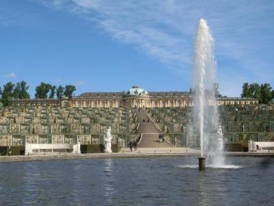 2018GW ドイツ15:ベルリン->ポツダム 世界遺産サンスーシ宮殿