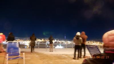 オーロラ; ノルウェー フィヨルド内 フッテンルーテン航路を北上の船上オーロラ見学。