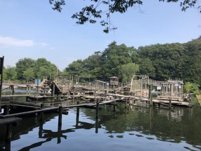 夏休み前の夏遊び!はじめての清水公園フィールドアスレチック