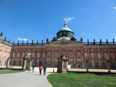 2018GW ドイツ16:ポツダム サンスーシ庭園、風車と新宮殿