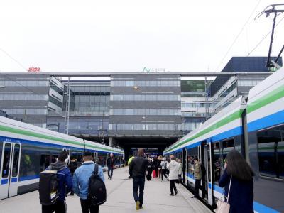 【海外64】23回目のフィンランド旅行1-FRA経由でHEL Vantaaへ,I線で中央駅へ