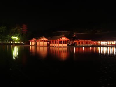 BGMは波の音、静けさにつつまれた厳島神社~夜と朝~