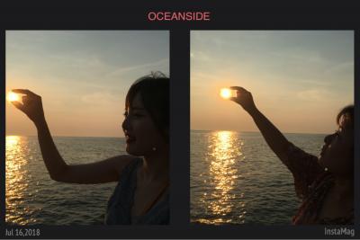 2018年7月  姪っ子の愛車で行くフォトジェニック美浜♪~「フレベールラデュ」で桃パフェ~「花ひろば」でヒマワリ鑑賞~「TERRACE NOA NOA」の絶景カフェ~「野間灯台」とサンセット~