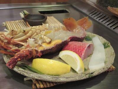 夏リゾート沖縄(16)台風で帰れなくなったからアリビラの鉄板焼き「護佐丸」で豪華ディナー