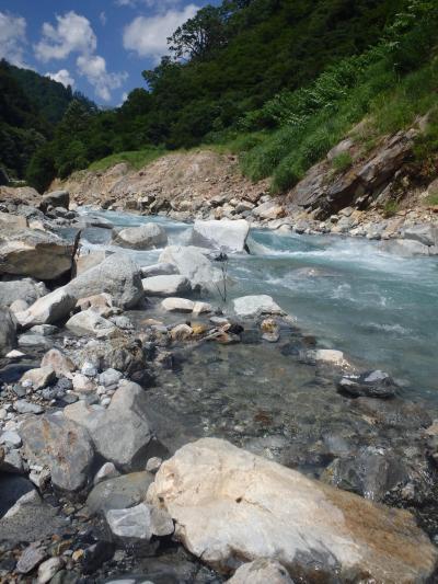 [2018年07月] 黒部峡谷、トロッコ電車に乗って祖母谷温泉と宇奈月散策。
