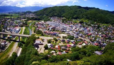 ドローン持参で長野で車中泊 (8/8)青葉茂れる高遠城址、桜の季節が過ぎれば人気なし