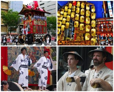 初めての「祇園祭」を猛暑のもと、その伝統と華麗なページェントに魅了される
