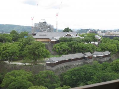 熊本市まで高速バスで、一泊旅行(二日目は熊本城)