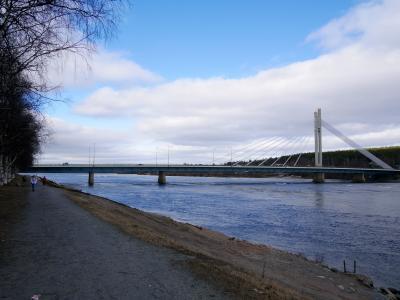 23回目のフィンランド旅行6-Rovaniemiの街中,空港,サンタ村,Olkka湖,Saarenkylaのスーパーと回る
