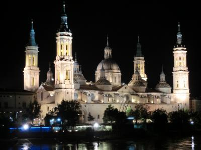 シニア夫婦のスペイン・ポルトガル周遊旅行(5)サラゴサの夜景を求めて