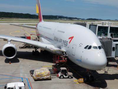 2018年ヨーロッパその1 アシアナ航空A380ビジネスクラスでフランクフルト