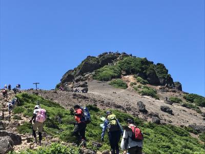 安達太良山ハイキング、飯坂温泉、浄土平(第1日)