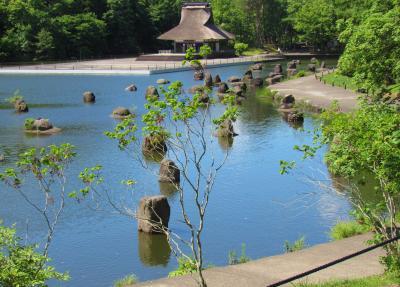 2018年大人の休日倶楽部の旅(青森県三沢市)その3「星野リゾート青森屋」庭園と旧渋沢栄一邸。
