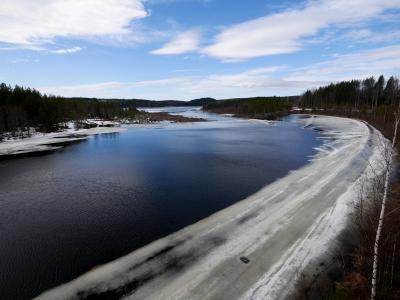 2018.5  23回目のフィンランド旅行8-ケミ川のダム,Autti教会,Kylakartanoという田舎のカフェなど