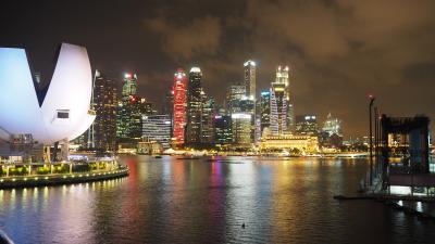 夜は夜景が楽シンガポール!?(笑い)