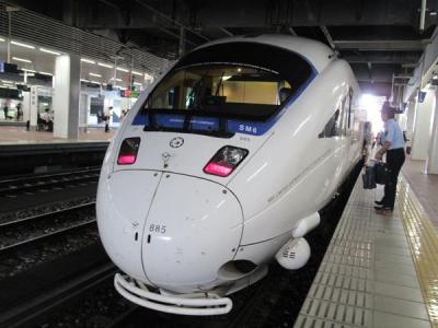 九州2018夏(7)特急ソニックお得にグリーン車の旅(別府~博多)、念願の駅弁「かしわめし」もGet!
