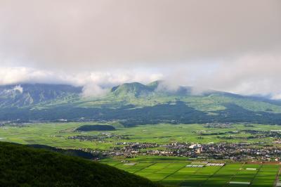 大観峰と鍋ケ滝