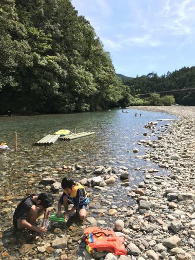 家族旅行 2018年7月 (長男9歳、次男7歳)和歌山県 川湯温泉 みどりや旅館