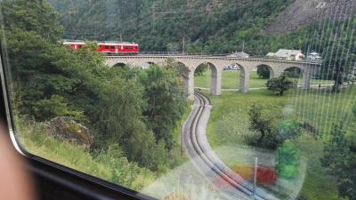 7/15 ヨーロッパ周遊30日間。ベルニナ急行とティラノ滞在 (ミラノへ)