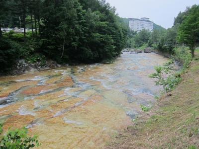 初夏の北海道旅行・1日目・白絹の床と洞爺湖花火