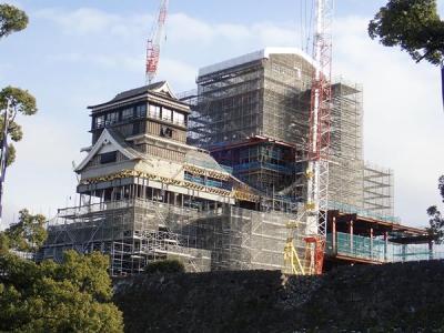 九州縦断旅(20)復興途上の熊本城