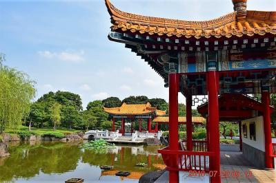 2018 大師公園内にある中国瀋陽市から贈られた中国庭園『瀋秀園』