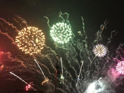 北びわ湖花火大会を有料観覧席で