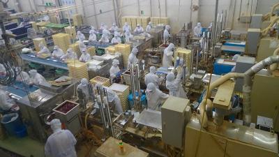 桃の買い出し(32) 桔梗信玄餅工場見学。