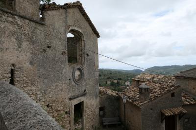 美しき南イタリア旅行♪ Vol.55(第3日)☆Cleto:美しき山村「クレート」廃墟の美しい教会♪