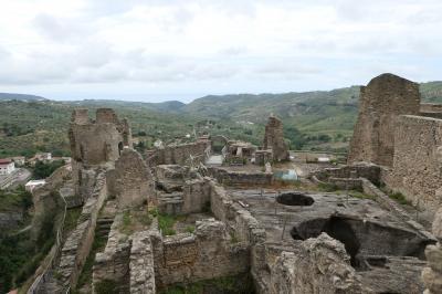 美しき南イタリア旅行♪ Vol.57(第3日)☆Cleto:美しき山村「クレート」廃墟の美しい古城から素晴らしいパノラマ♪
