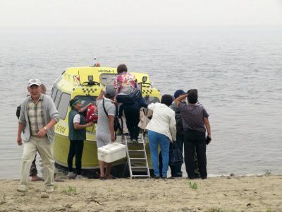 2018年シベリア・サハ共和国ヤクーツクへの旅(5)移動編その2:エクスカーションでレナ川を渡ったフェリーとボートの旅