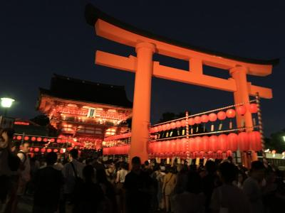 京都散歩(1)  伏見稲荷の宵宮