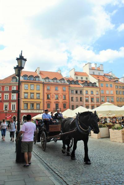 ポーランドのワルシャワへ その5  新市街・旧市街は見どころ満載!    キュリー夫人の家から旧市街広場、洗礼者ヨハネ大聖堂へ。