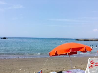 On the beach in 葉山!