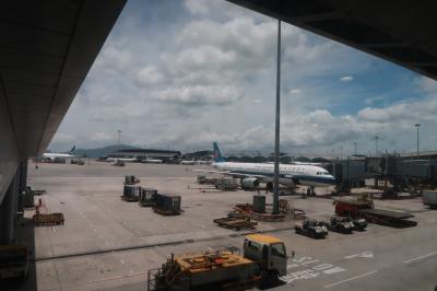端午節バンコク8★娘8ヶ月2度目のタイDay6 キャセイパシフィック航空利用 バンコクから香港へ
