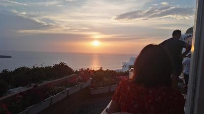 7/24 ヨーロッパ周遊30日 サントリーニ島滞在 2日目 世界一の夕陽