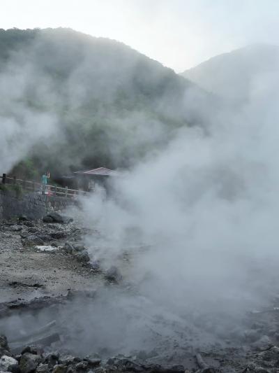 九州-9 雲仙地獄めぐり・島鉄観光バスで島原港へ ☆雲仙普賢岳を眺めながら
