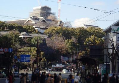 九州縦断旅(24)藤崎八旛宮と熊本市電・健軍町駅と繁華街・下通商店街