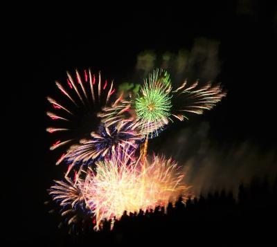 最近、孫にカメラを取り上げられることが多くなってきた~どっちもブレブレな、淀川花火大会