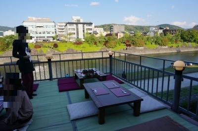 *18'5月GW。新緑が美しい♪王道ルートで周る一歳児連れ京都旅行記④。。。♪平安神宮と今回のメイン!!憧れの「納涼床」で鱧料理を堪能♪♪
