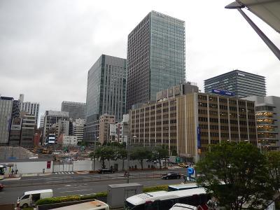 東京駅八重洲のグランルーフから見られる風景