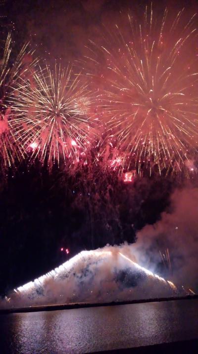 江戸川花火大会を招待席で観覧。