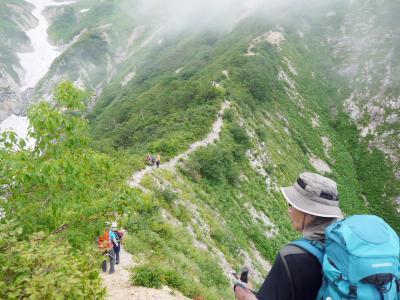 北アルプス   五 龍 岳 (2,814.0m)    (第一日)